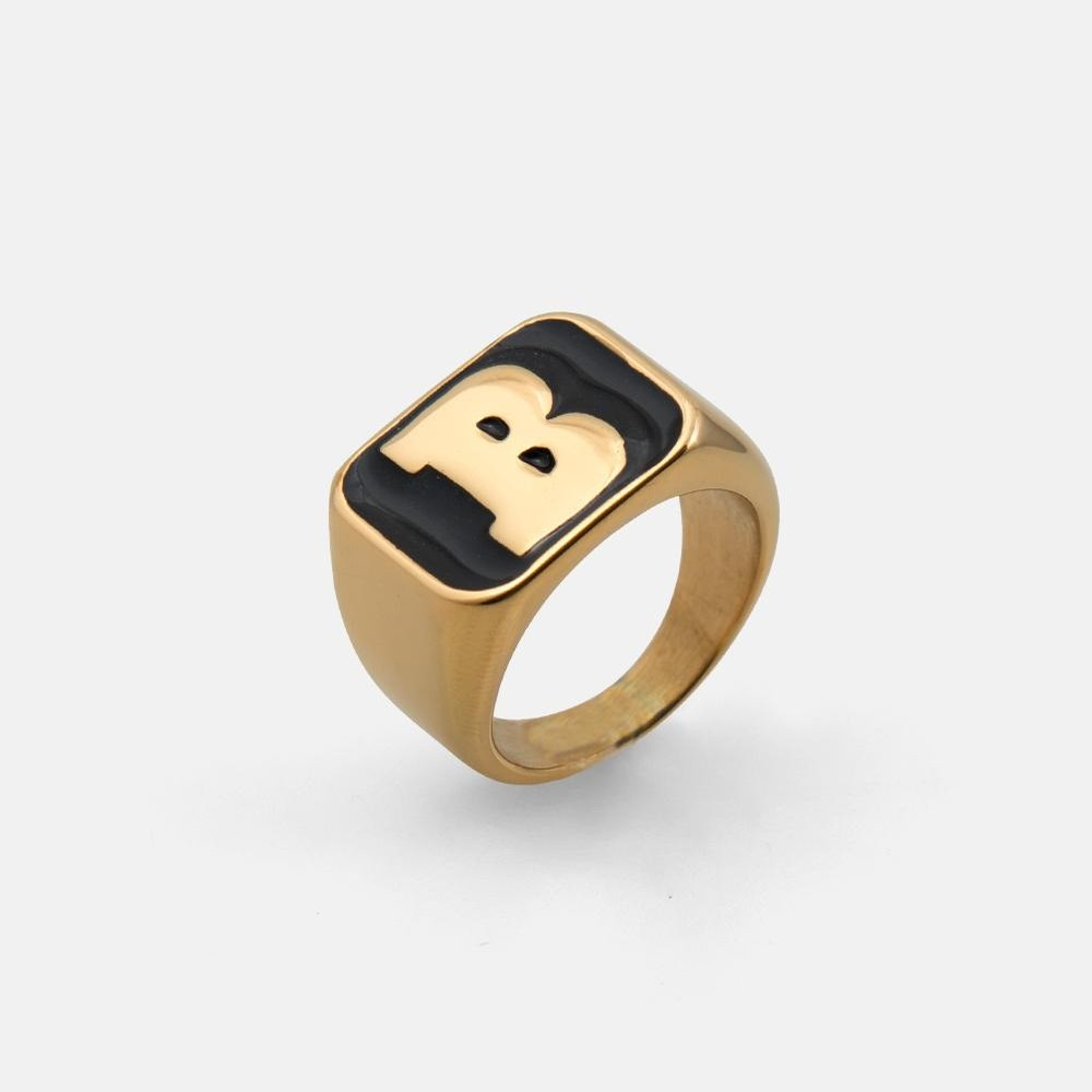 Capital B Gold Ring