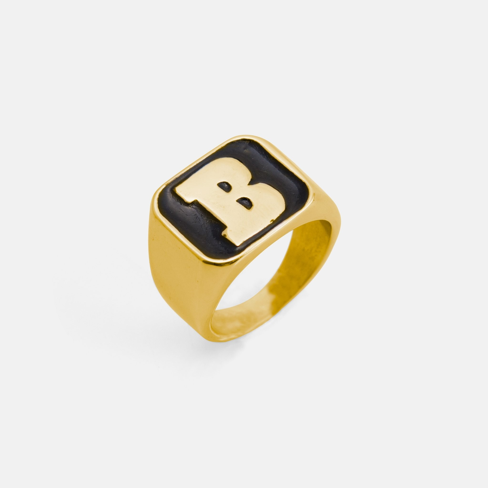 Capital B Gold/Black Ring