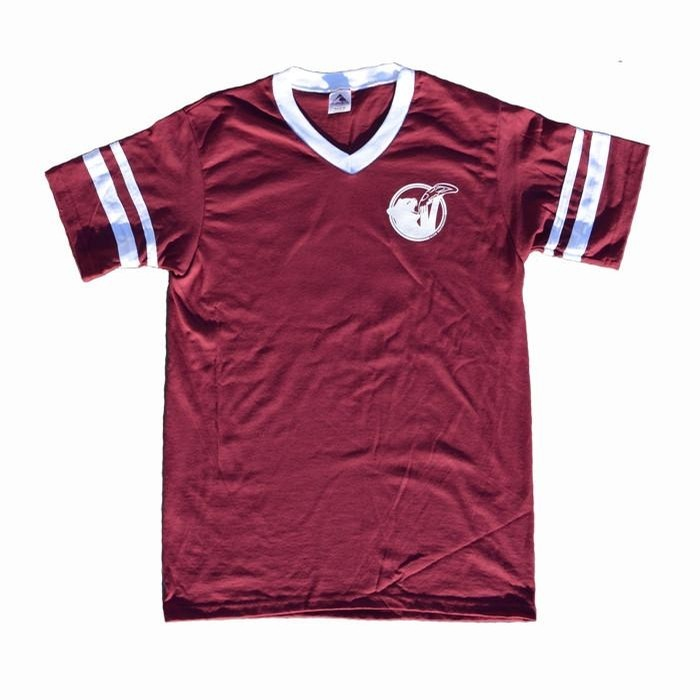 Cat Snax V-Neck Jersey Tee (Black or Maroon)