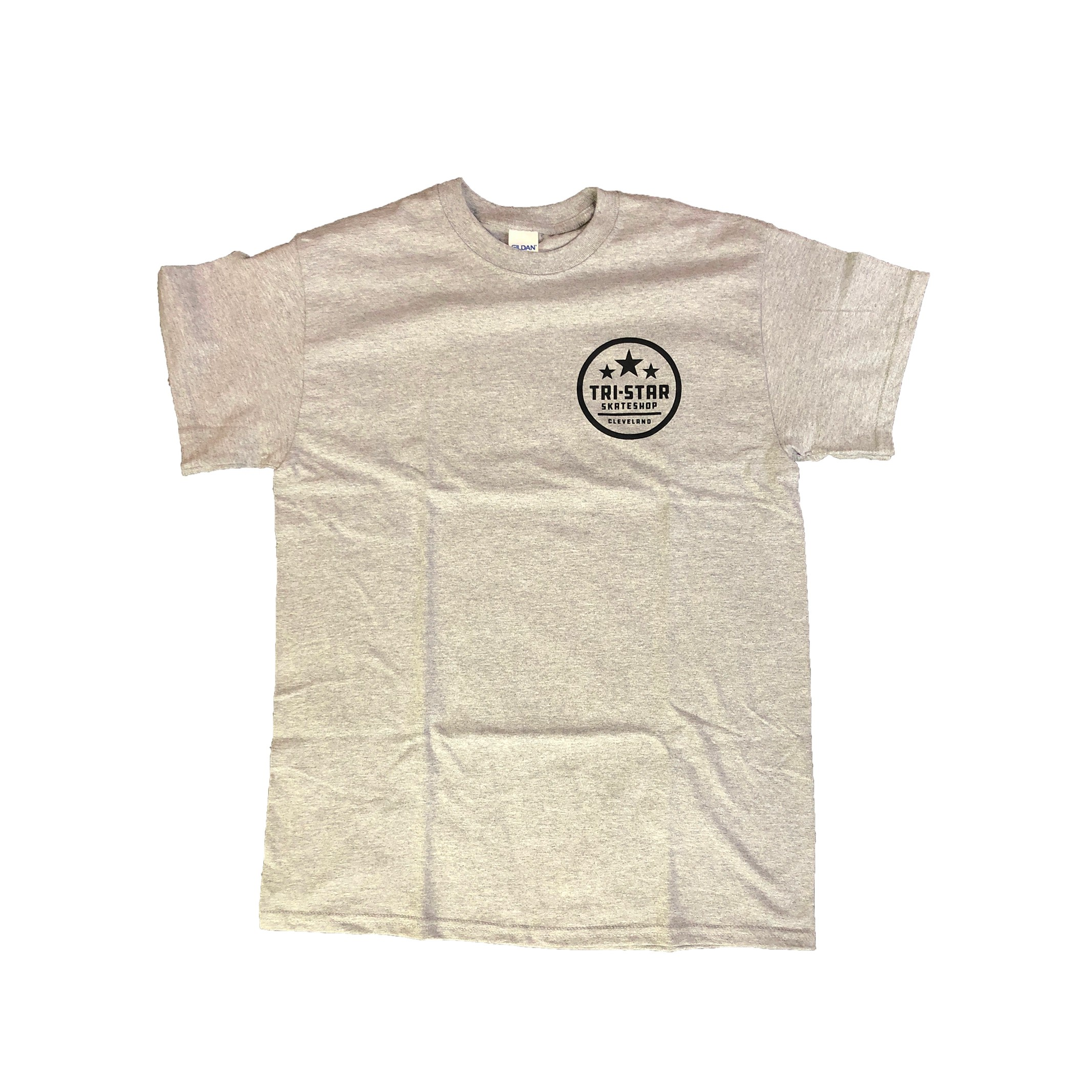 Circle Logo Heather Grey Shop Tee
