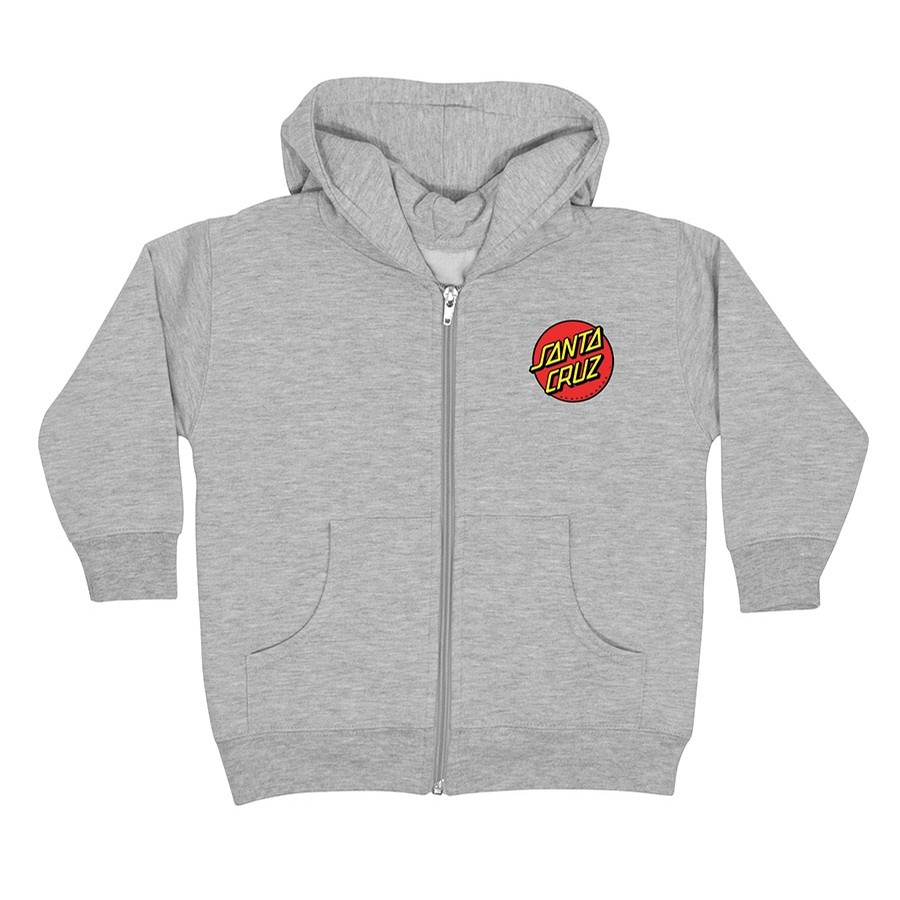 Classic Dot Zip Hooded Youth Heather Grey Sweatshirt