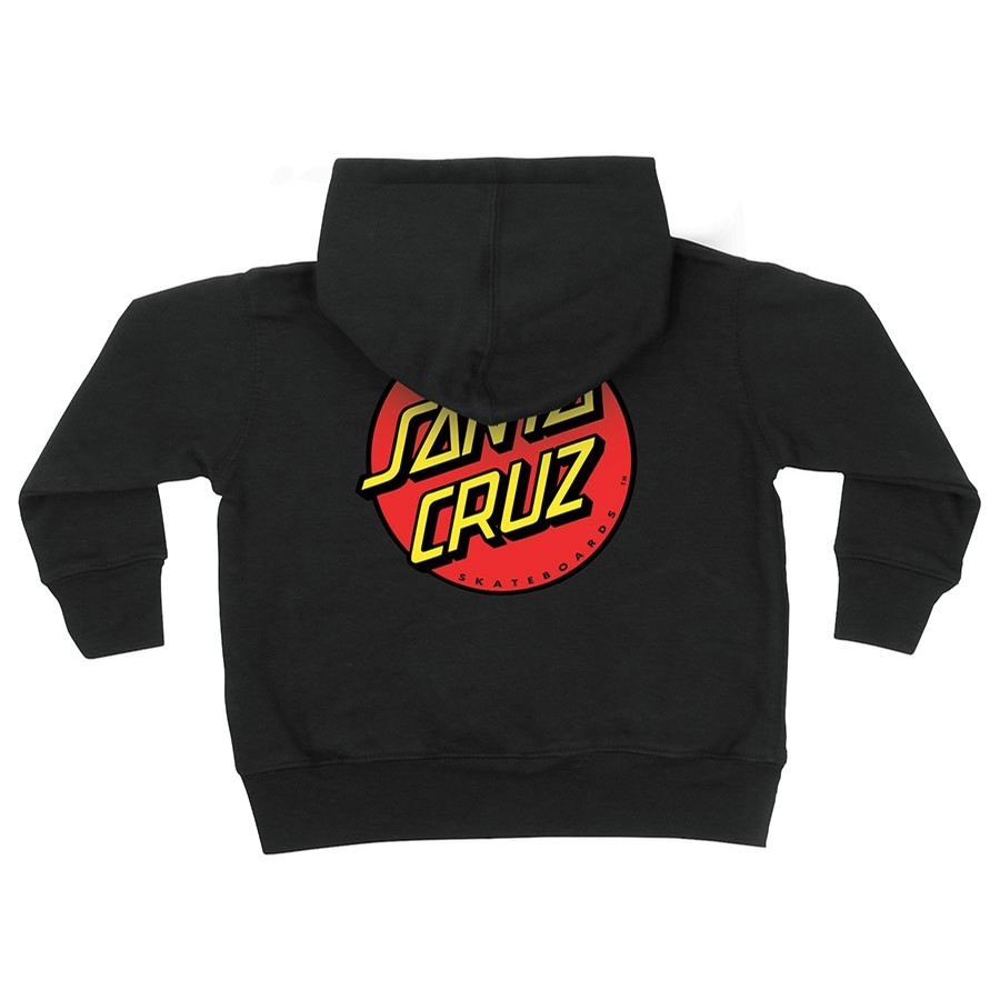 Classic Dot Zip Hooded Youth Black Sweatshirt