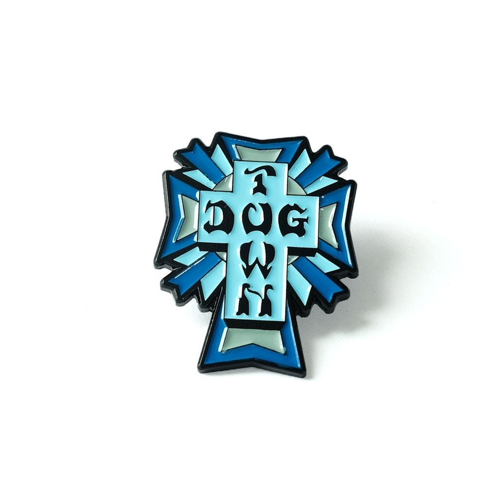 Enamel Pin Cross Blue