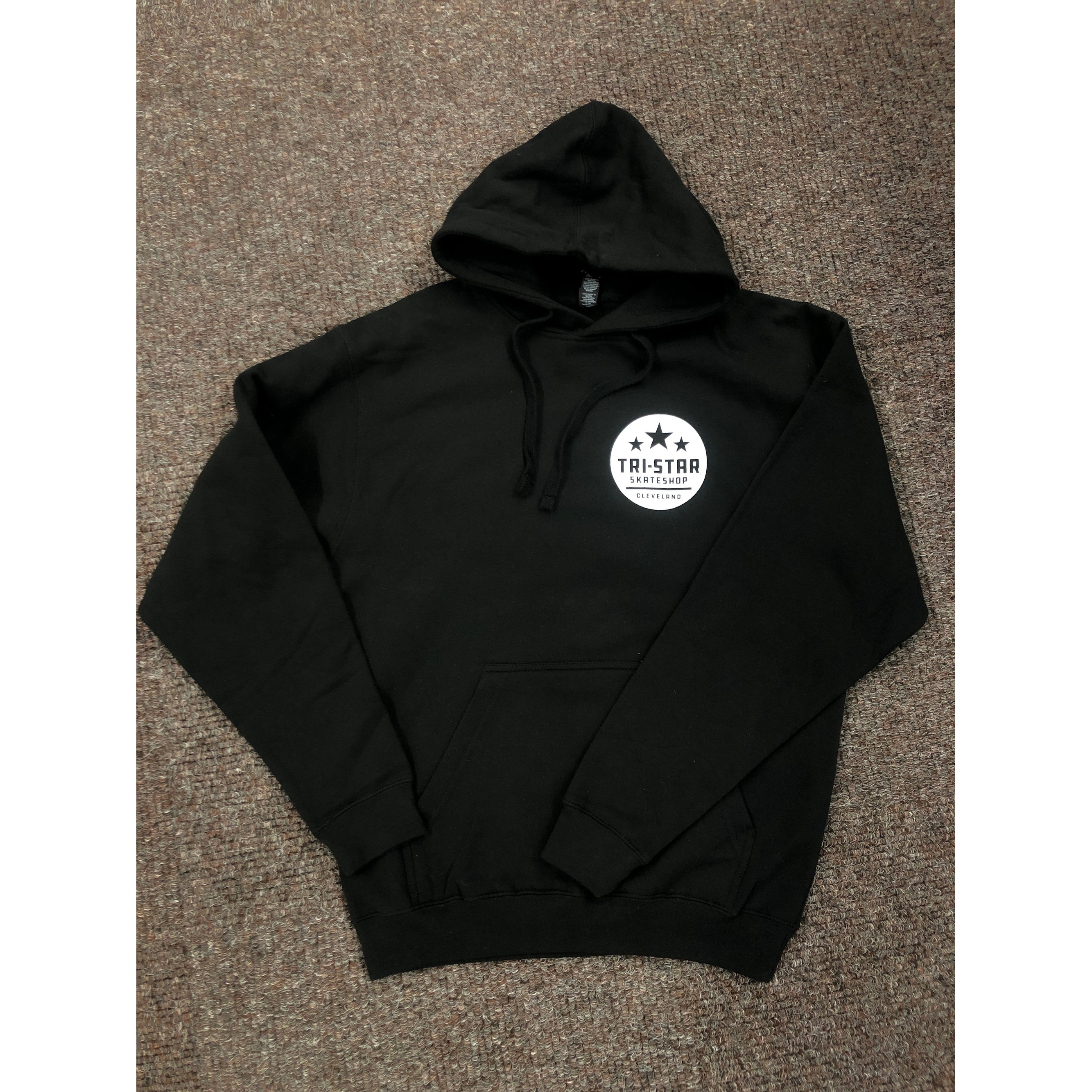 Tri-Star Circle Logo Black Shop Hoodie