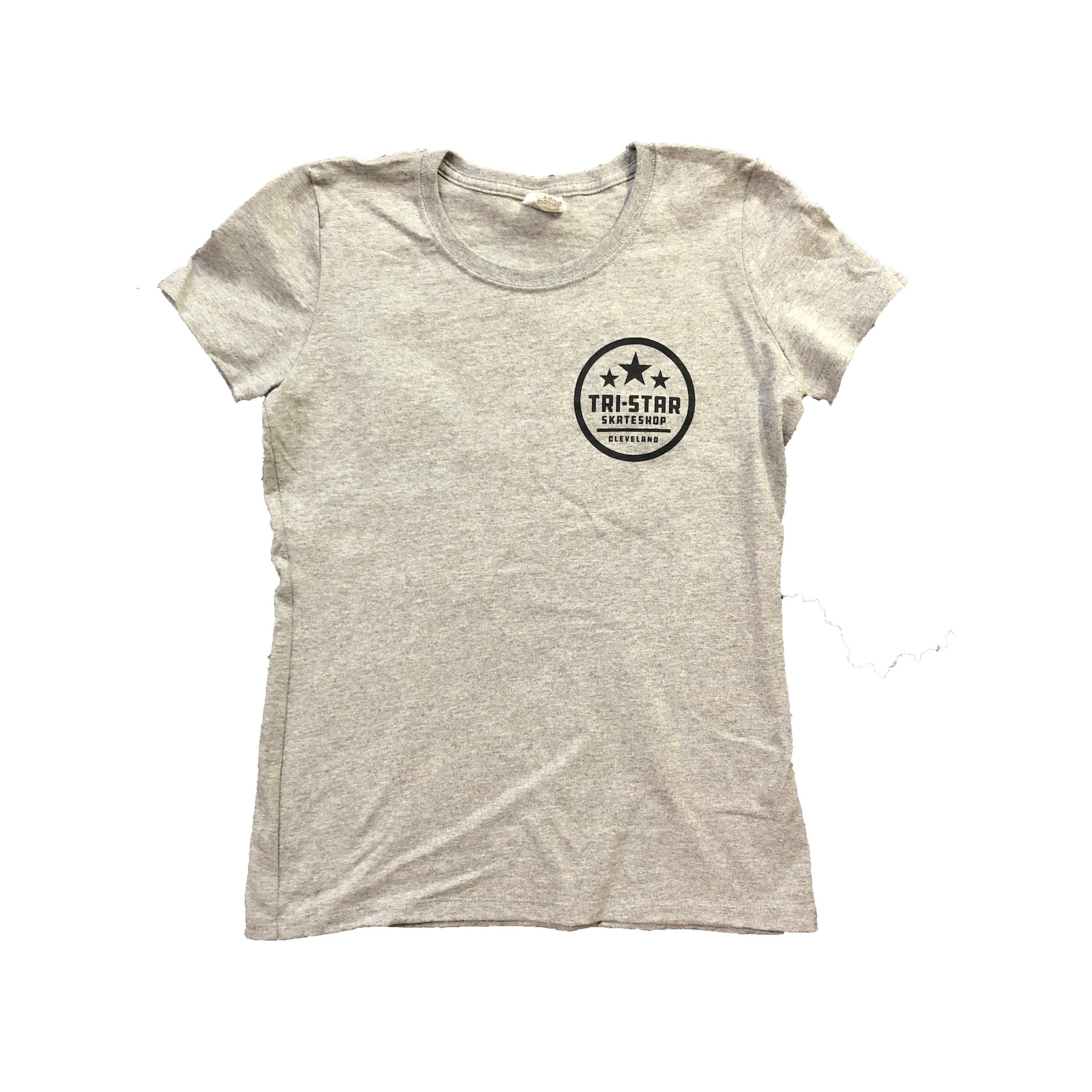Circle Logo Heather Grey Ladies Shop Tee