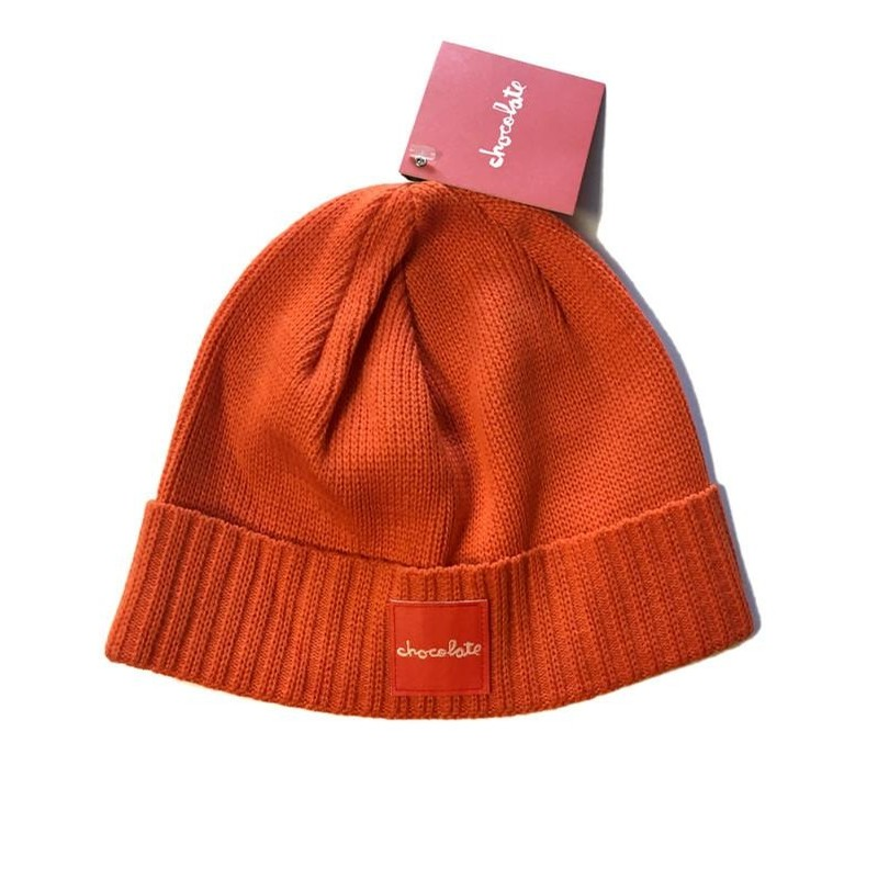 Red Square Fold Beanie (Orange)
