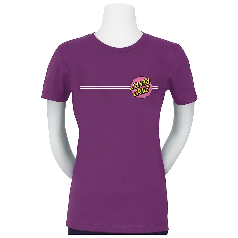 Other Dot S/S Fitted Purple Berry Girls T-Shirt