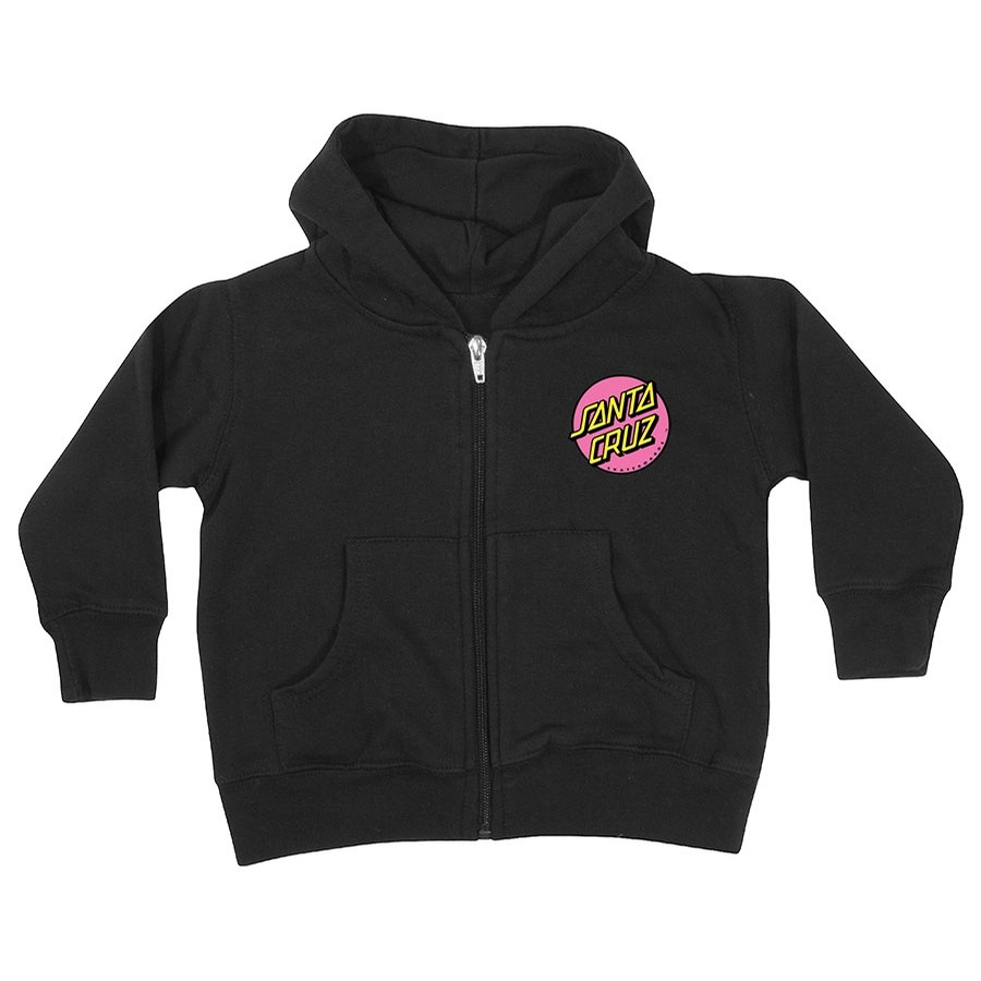 Other Dot Zip Hooded Youth Black Sweatshirt