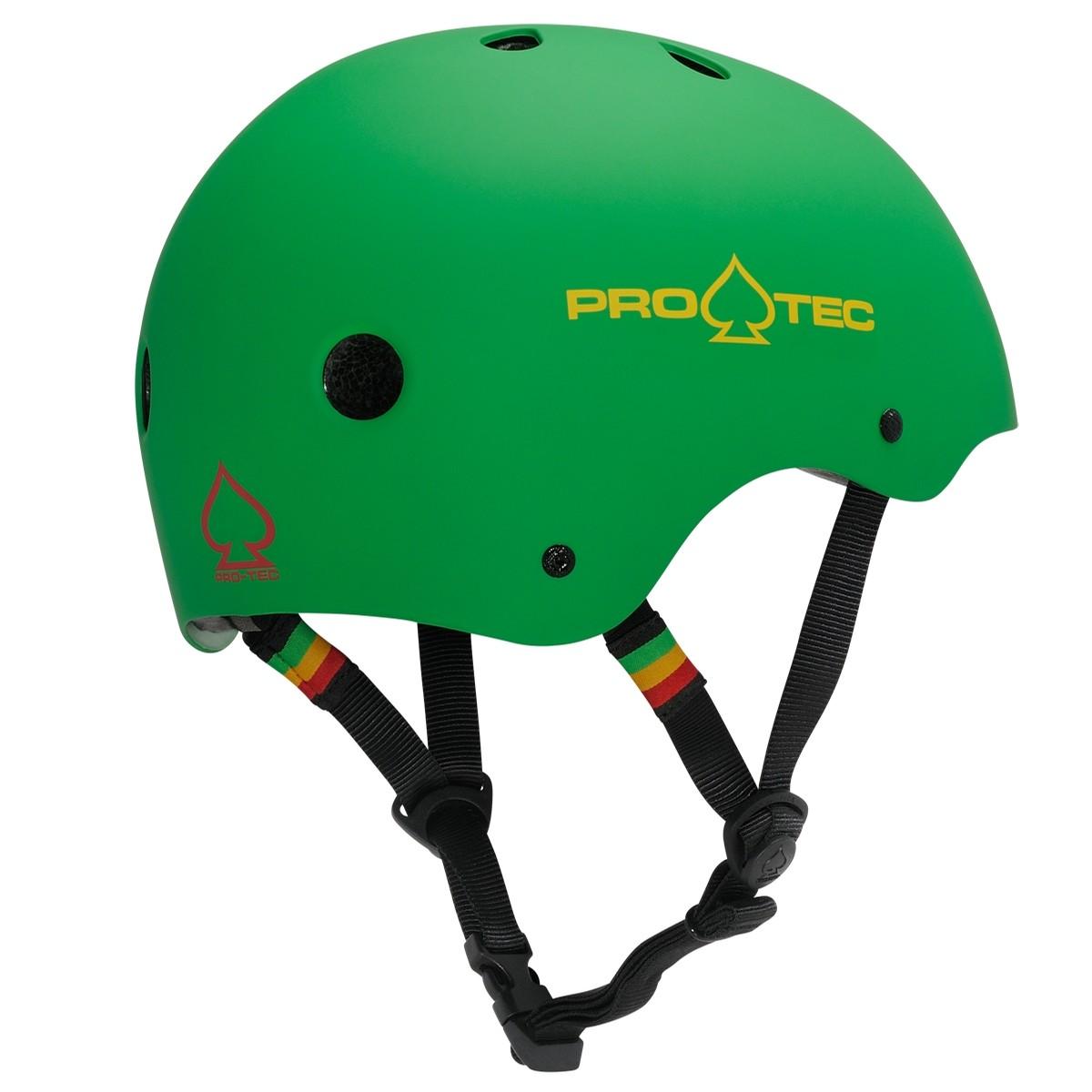 Classic Skate Certified Rasta GRN Helmet