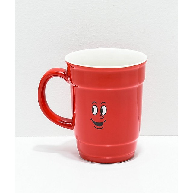 Red Cup Ceramic Coffee Mug