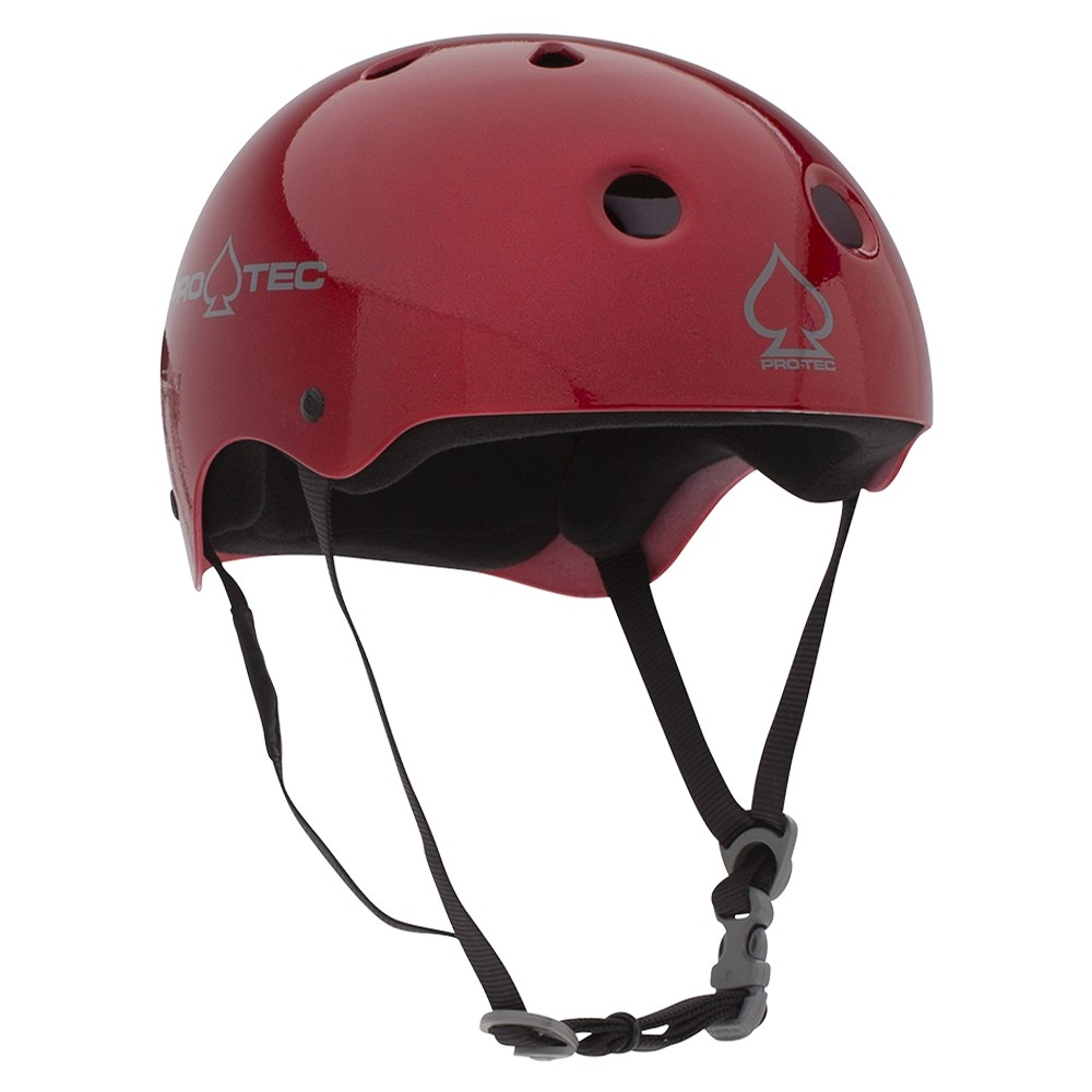 Classic Skate Red Metal Flake Helmet