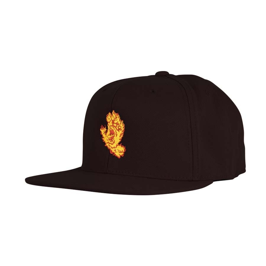 Flame Hand Snapback High Profile Hat