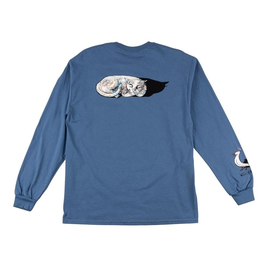 Sleeping Cat Long Sleeve Tee