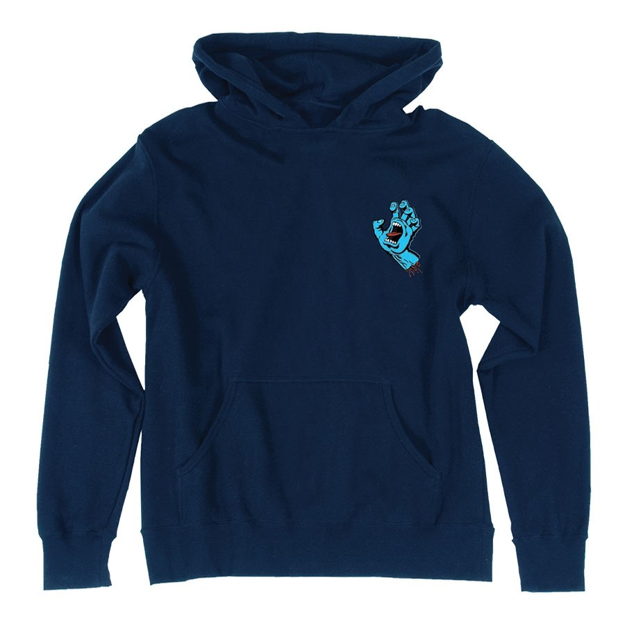 Screaming Mini Hand Pullover Youth Navy Sweatshirt
