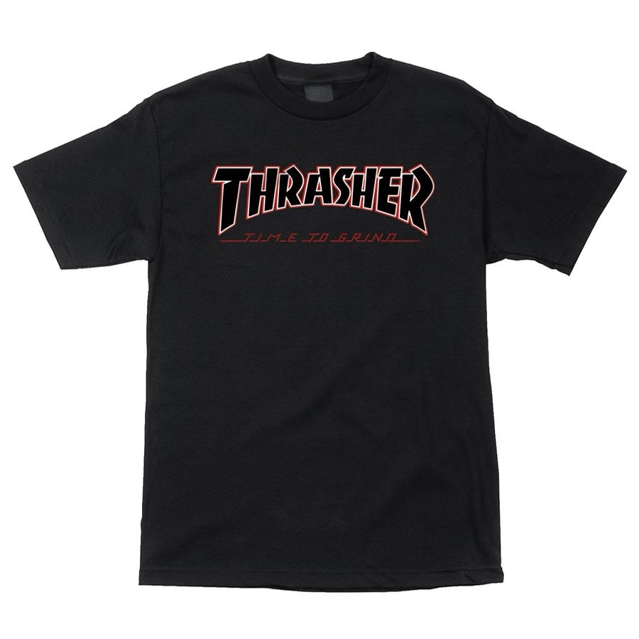 Thrasher Time To Grind S/S Black Tee
