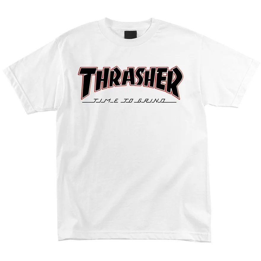 Thrasher Time To Grind S/S White Tee