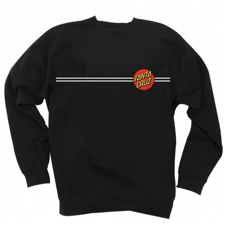 Dot Embroidery Crew Neck Sweatshirt