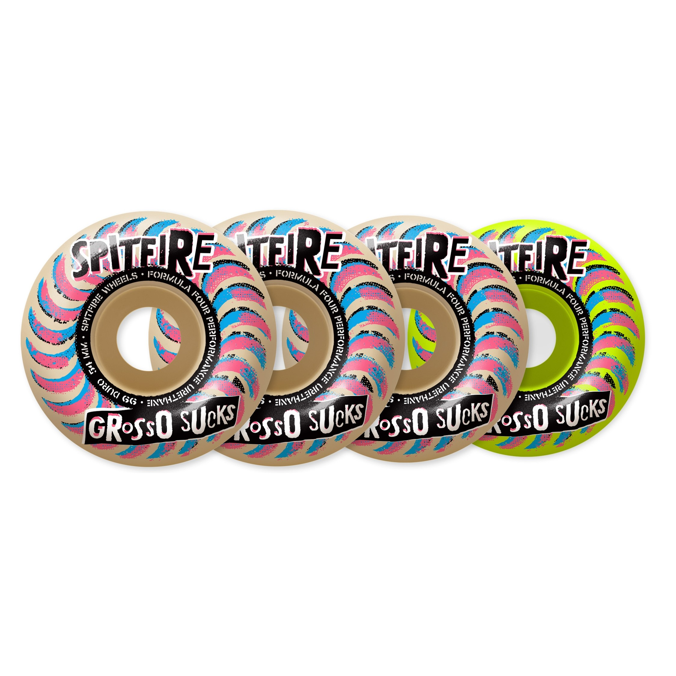 Formula Four Grosso Sucks Mashup Wheels White/Lime