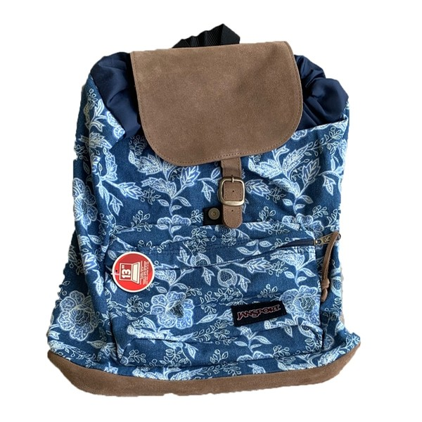 Blue Paisley Backpack