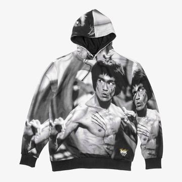 x Bruce Lee Scratch Custom Hooded Fleece