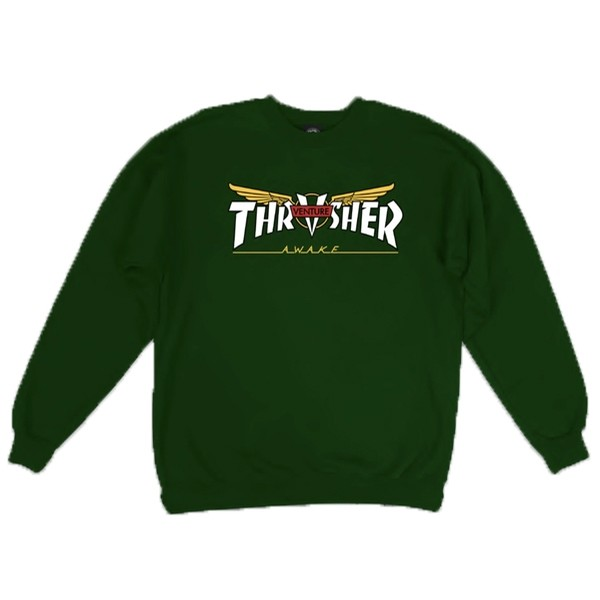 Thrasher Venture Collab Pullover (Green)