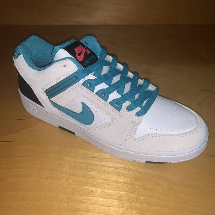 Air Force II Low (White / Teal)