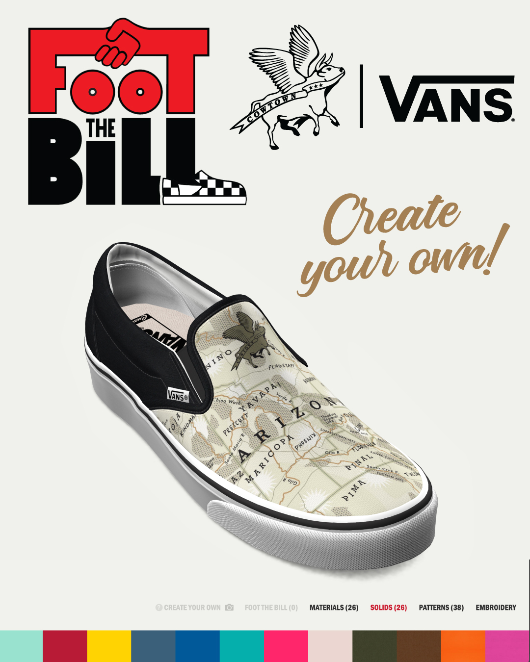 Vans Foot The Bill - Cowtown X Vans Custom Slip-On
