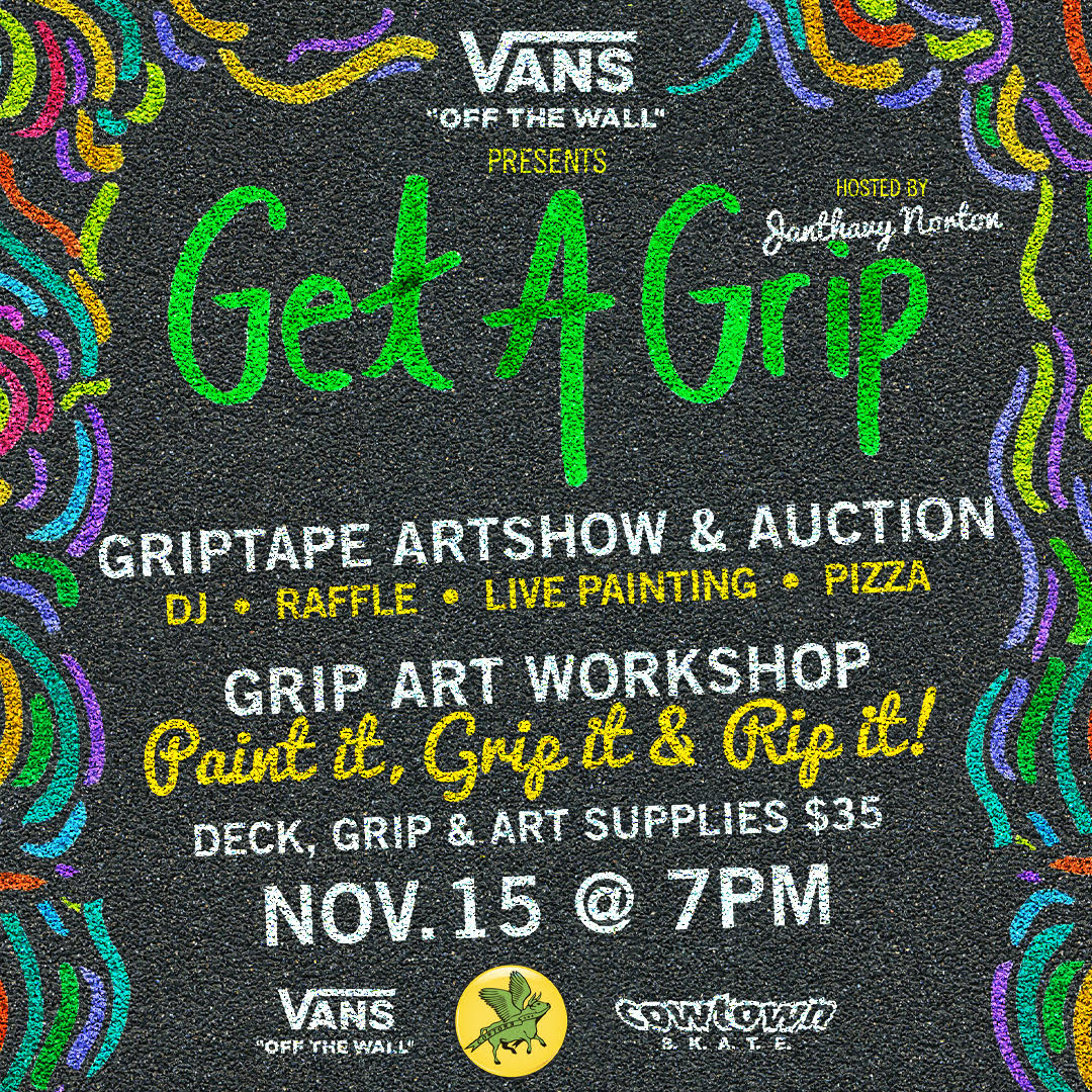 'Get a Grip' Artshow, Auction & Grip Art Workshop