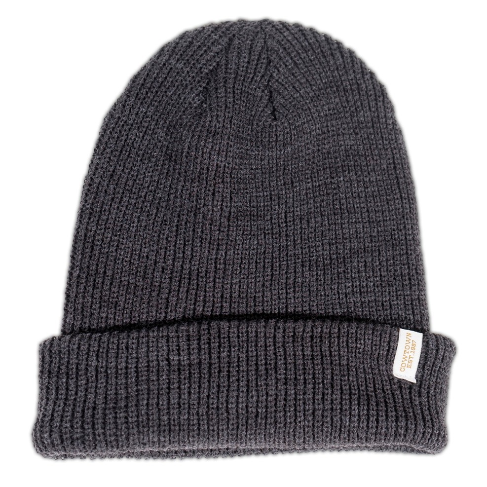 Clip Label Knit Beanie (Dark Grey)