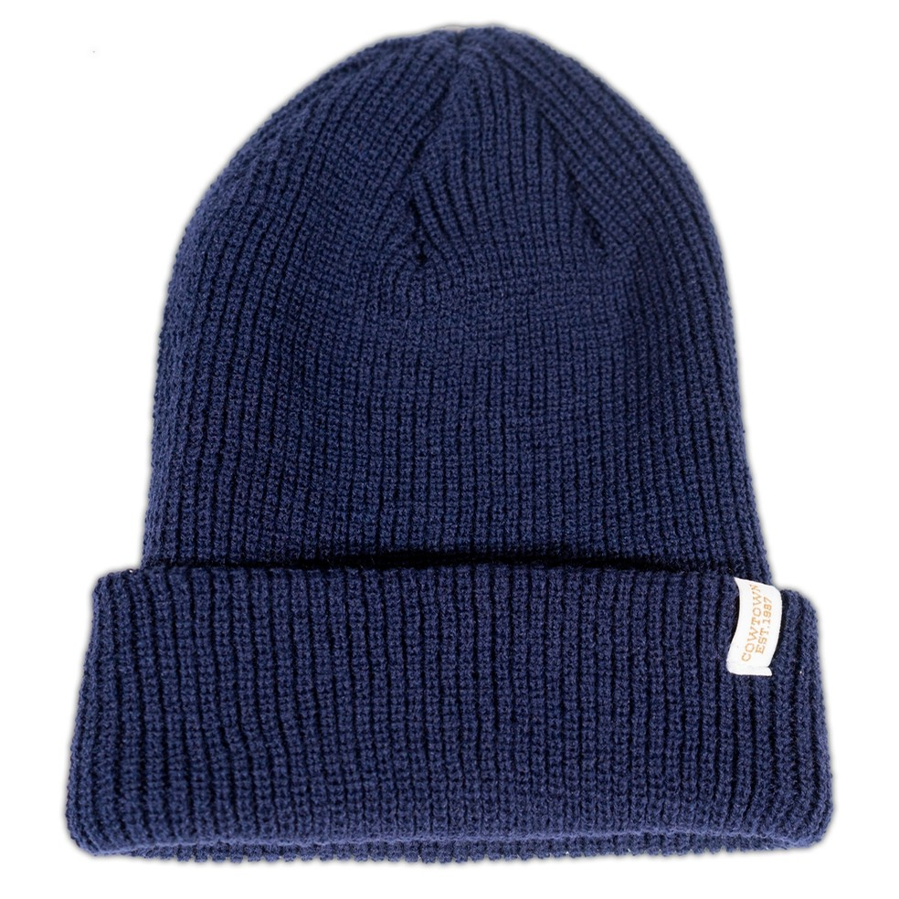 Clip Label Knit Beanie (Navy)