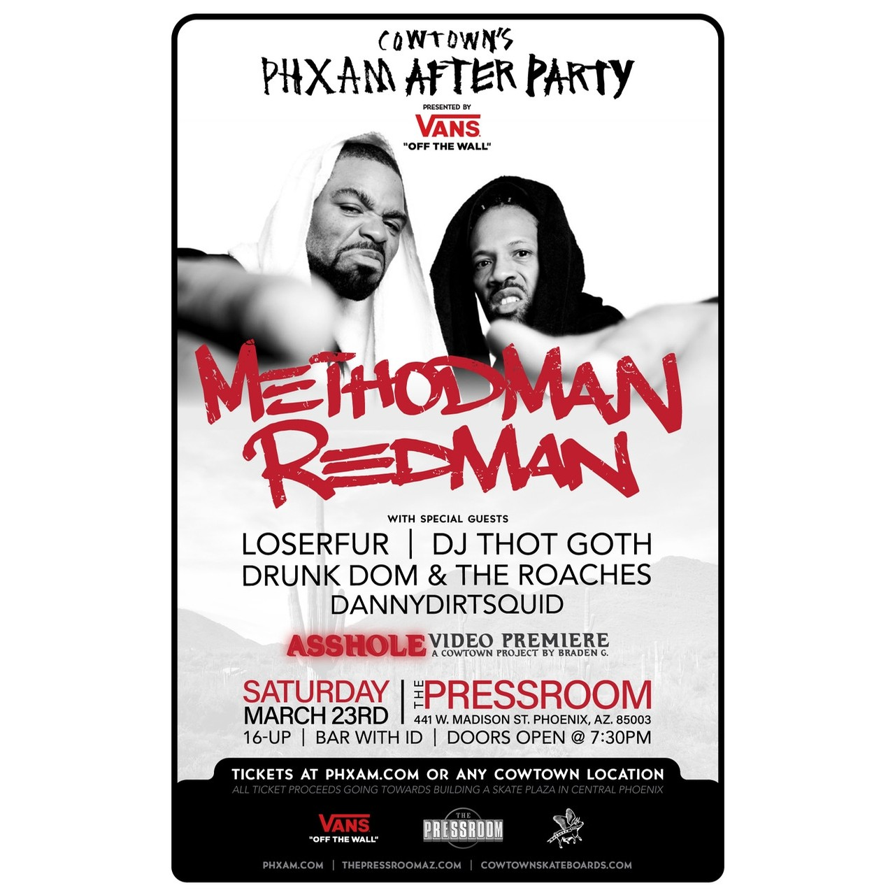 Cowtowns PHXAM 2019 After Party Feat. Method Man/Redman Presented by Vans