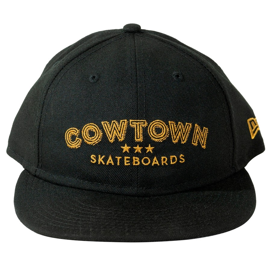 New Era / Cowtown Barber Shop Embroidered Snapback (Black)