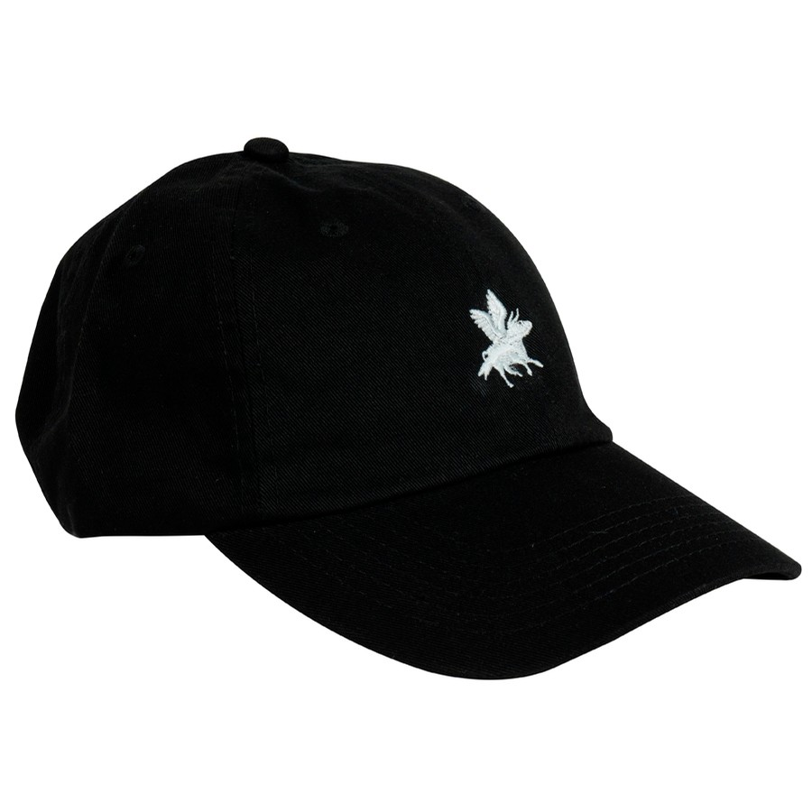Embroidered Cow Hat (Black)