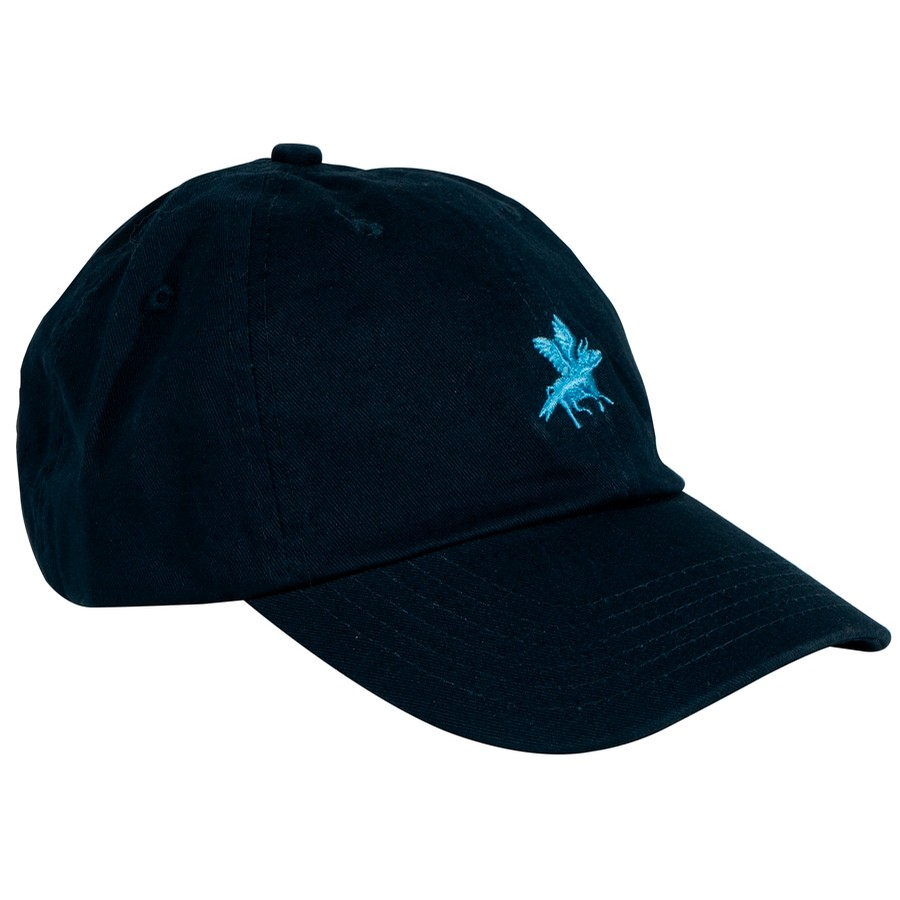 Embroidered Cow Hat (Navy)