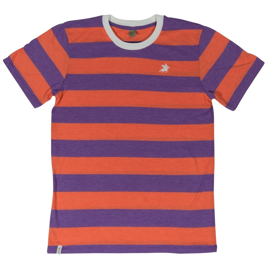Embroidered Stripe Knit (Orange/Purple)