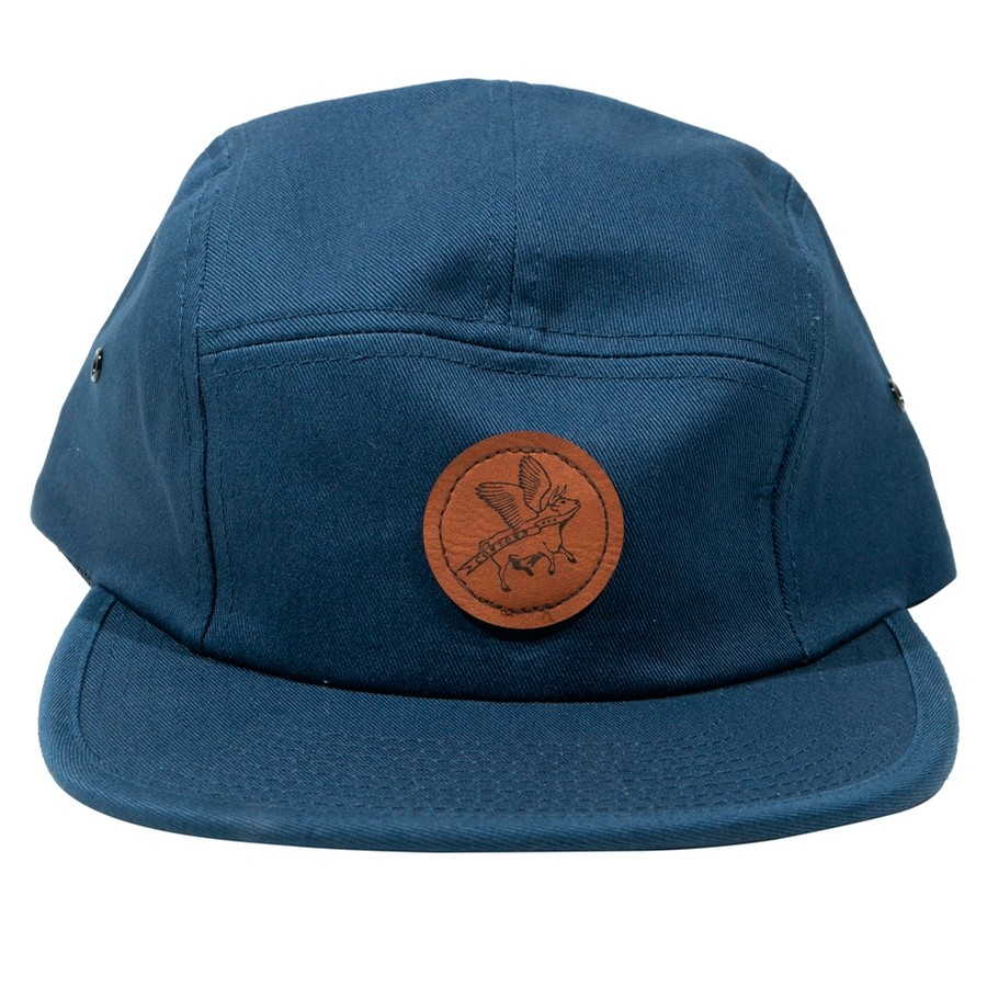 Circle Flying Cow Patch Jockey Cap (Navy)