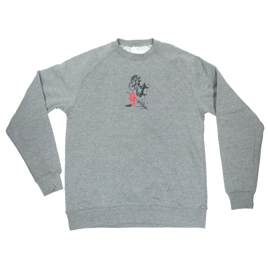 JMod Wallride Embroidered Crewneck (Gunmetal Htr)