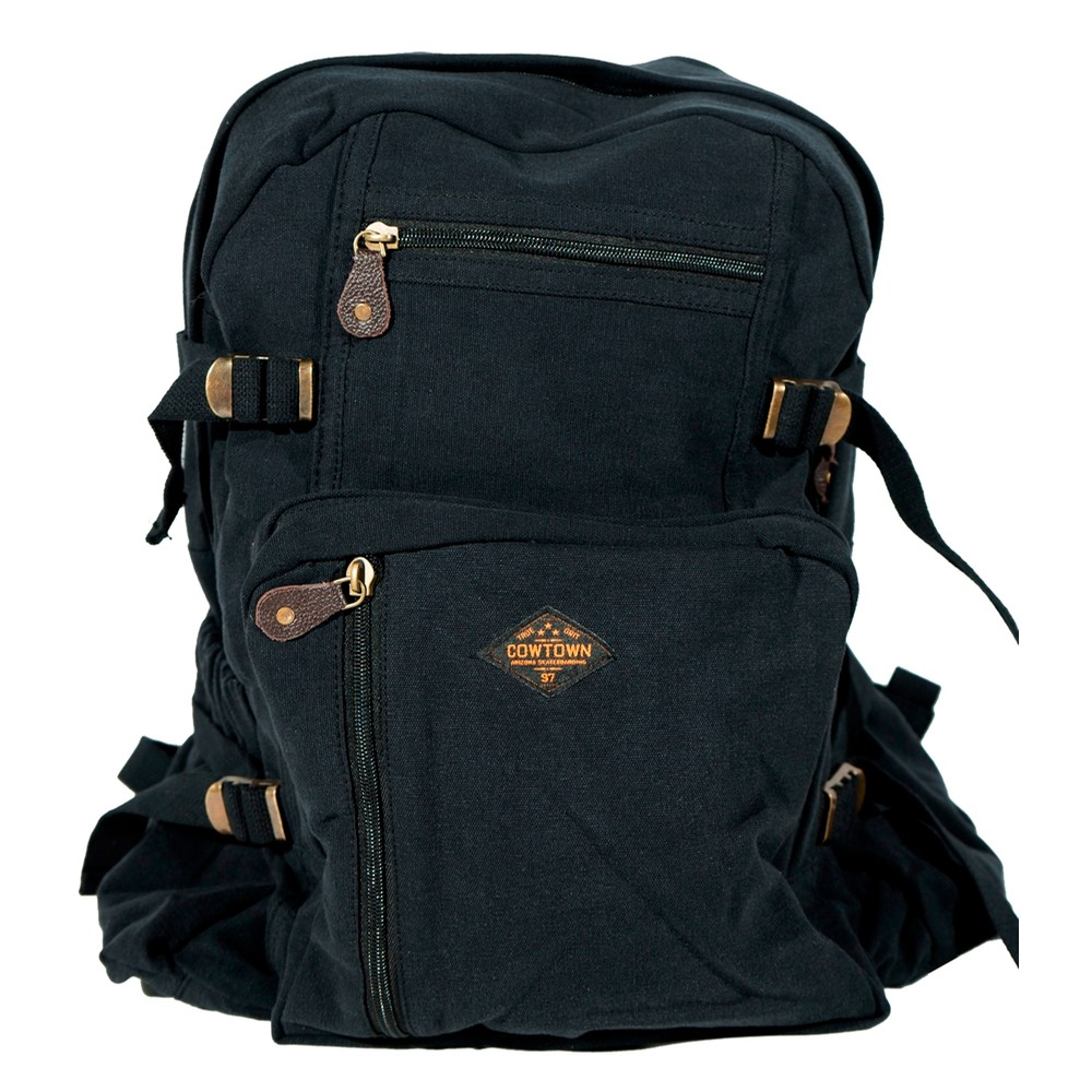 Jumbo Canvas Backpack (Black)