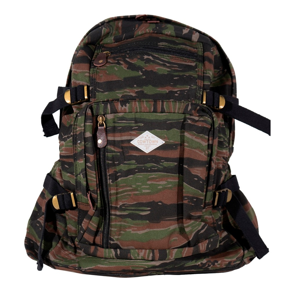 Jumbo Canvas Backpack (Tiger Stripe Camo)