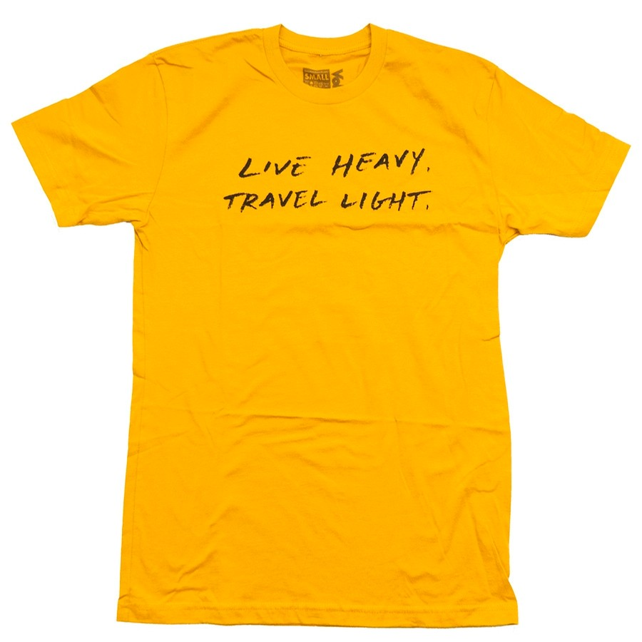 Live Heavy Travel Light Tee (Gold)