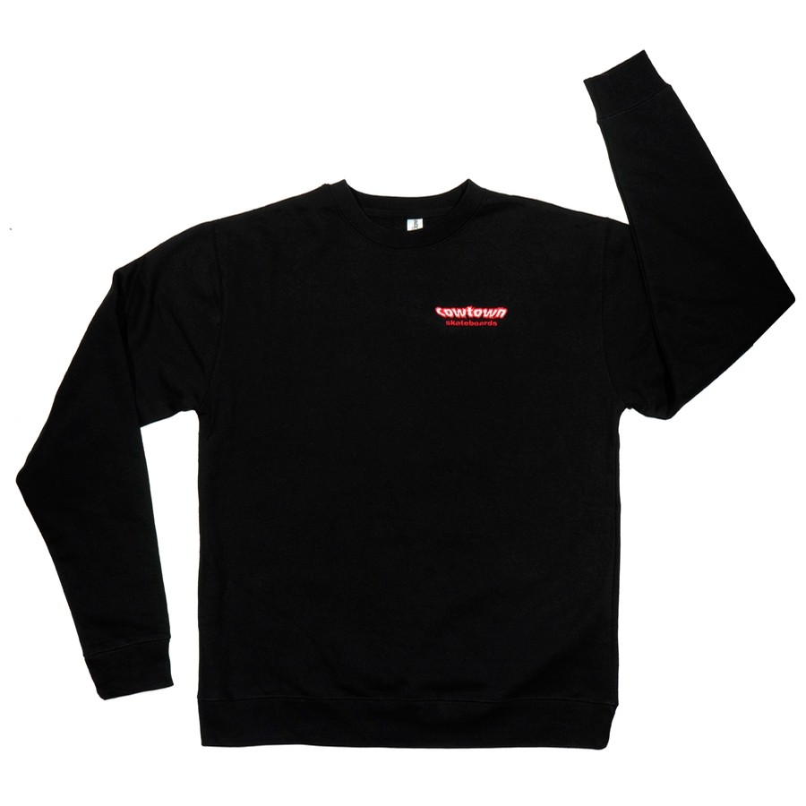 Embroidered OG Logo Crewneck Sweatshirt (Black)