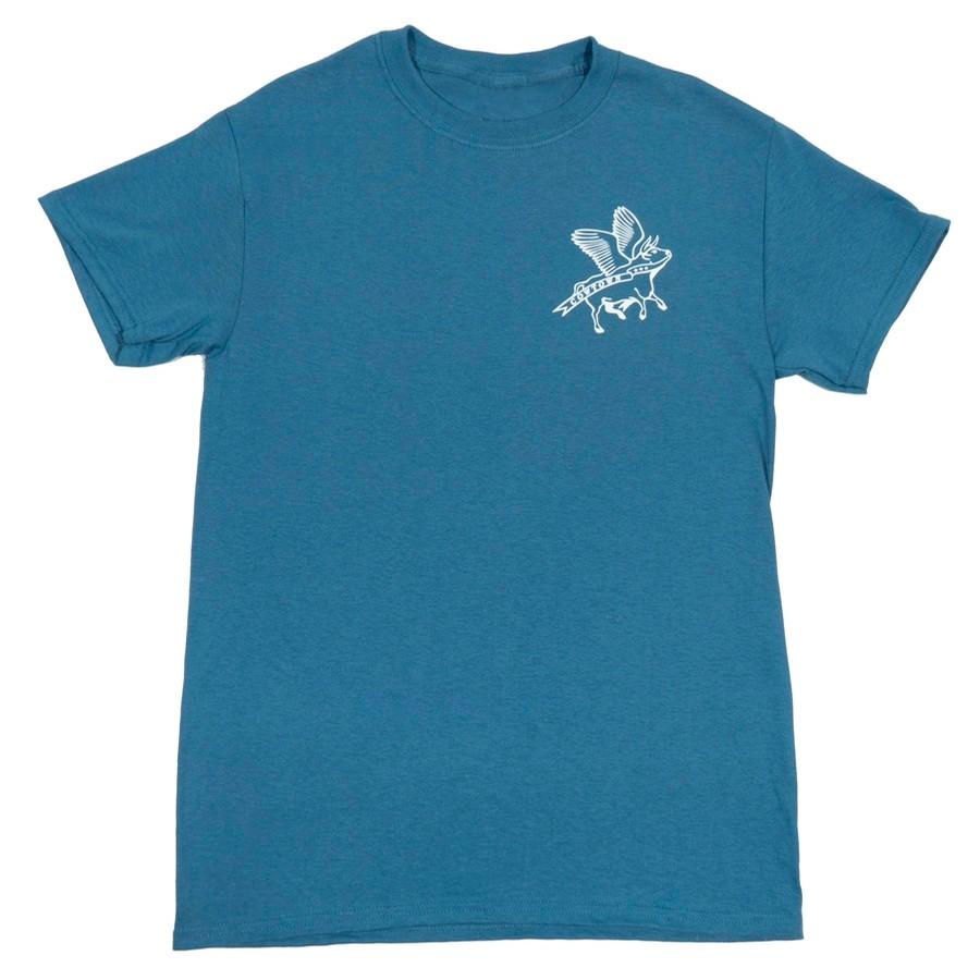 Flying Cow Outline Tee (Indigo/White)