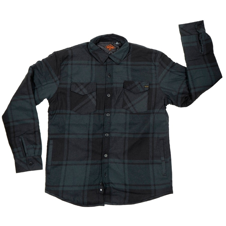 Quilted Flannel Jacket (Black Plaid)