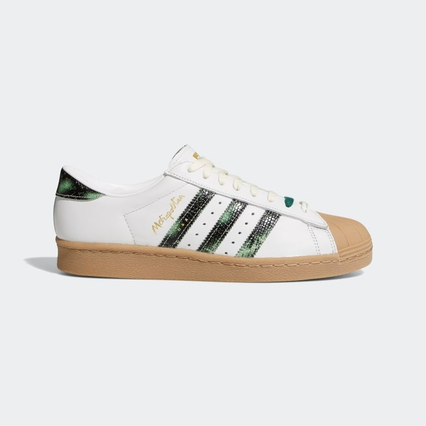 Superstar 80S X Metropolitan (Crystal White/Collegiate Green/Gum)