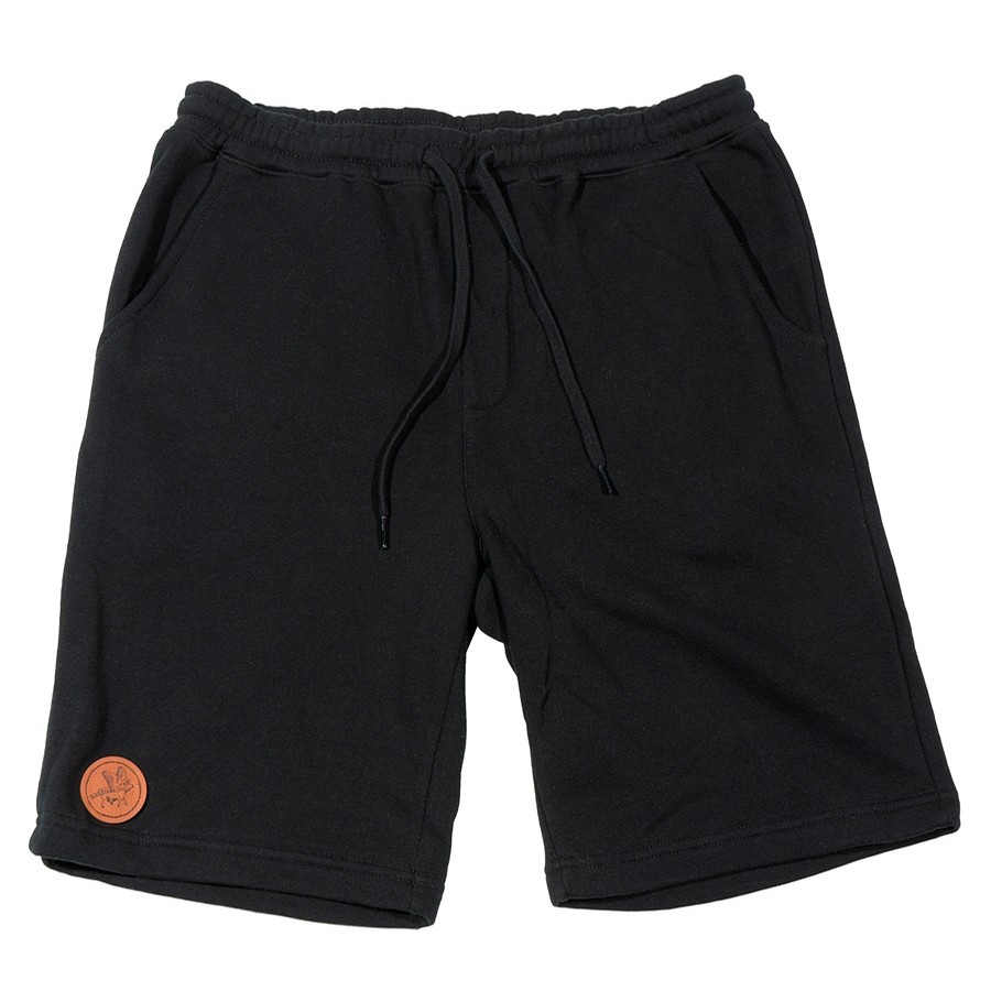 Circle Flying Cow Patch Sweatshort (Black)