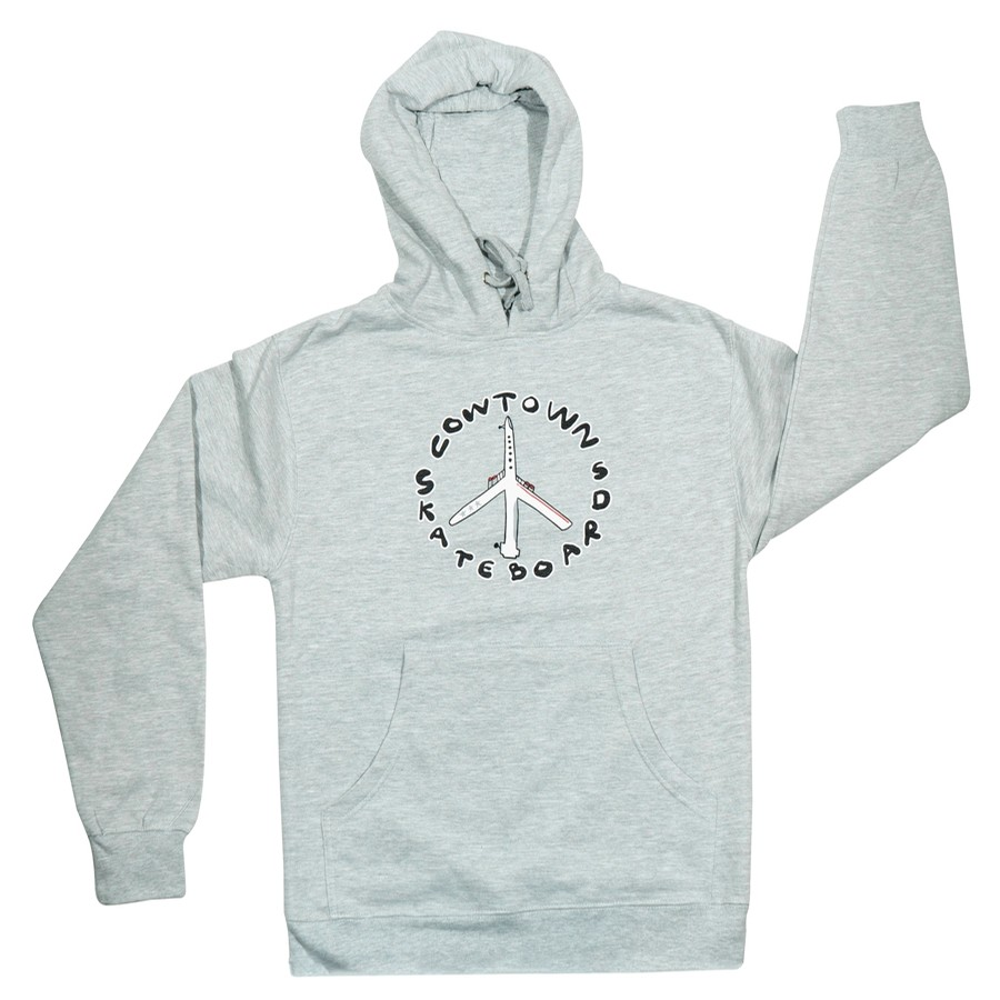 Peace Plane Pullover Hoody (Ash Heather)