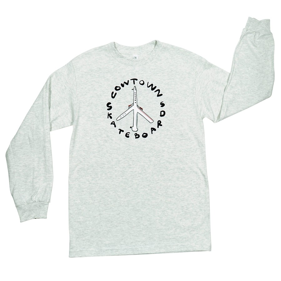 Peace Plane L/S Tee (Ash Heather)