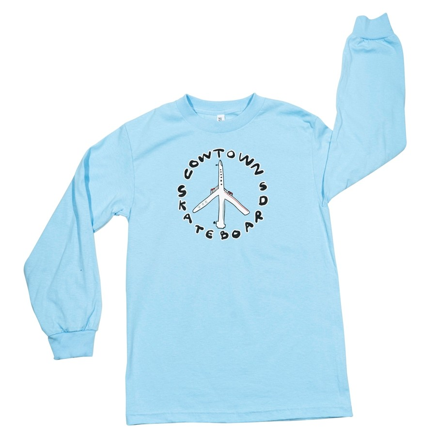 Peace Plane L/S Tee (Powder Blue)
