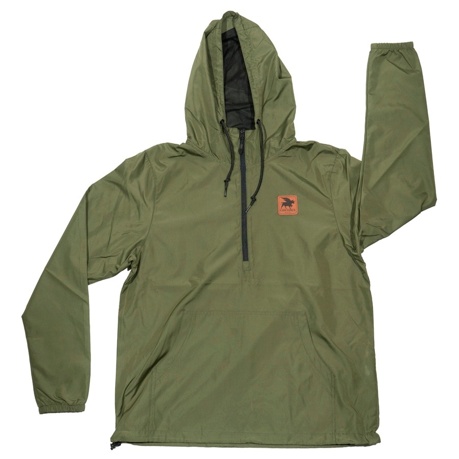 Toro Pullover Windbreaker Anorak Jacket (Army/Black)