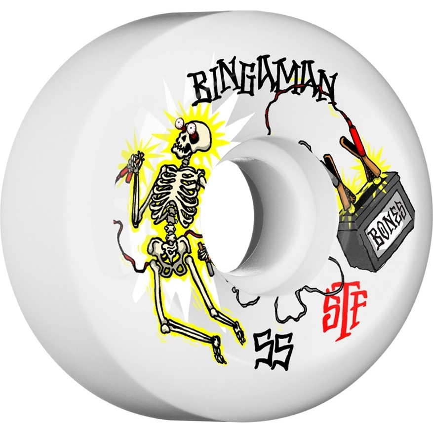 Bingaman Zapped STF Wheels (White)
